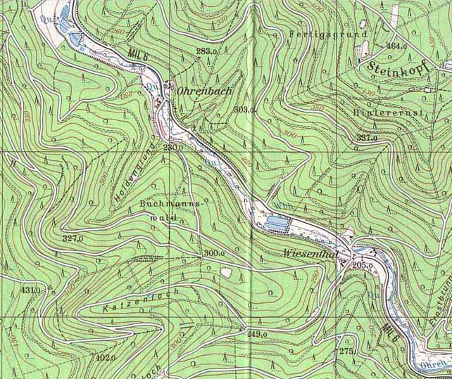 ohrnbach topographic map